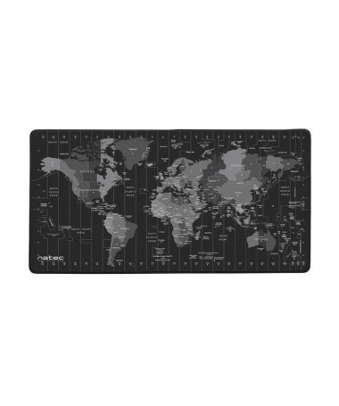 NATEC Mauspad TIME ZONE MAP MAXI 800X400MM