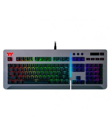 Tastaturë Thermaltake Level 20 RGB Titanium Cherry MX e hirtë