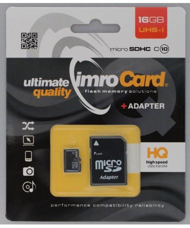 Kartelë memorike IMRO 10/16G UHS-I ADP (16GB/ Class U1/ + shëndrrues)