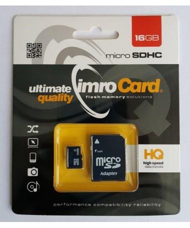 Kartelë memorike SD IMRO 4/16G ADP (16GB/ Class 4/ + shëndrrues)