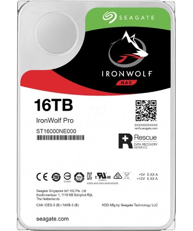 "Disk HDD Seagate NAS IronWolf Pro 16TB 3/5"" ST16000NE000"
