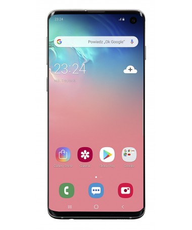 "Smartfon Samsung Galaxy S10 128GB Prism e bardhë (Exynos 9820/ 6/1""/ Corning Gorilla Glass/ Dynamic AMOLED/ 3040x1440/ 8 GB/ 34"