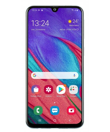 "Smartfon Samsung Galaxy A40 64GB e bardhë (5/9""/ Super AMOLED/ 2340x1080/ 4 GB/ 3100mAh)"