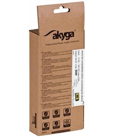 Mbushës rryme për laptopë Akyga AK-ND-42 (20 V/ 4/5 A/ 90 W/ Slim Tip )