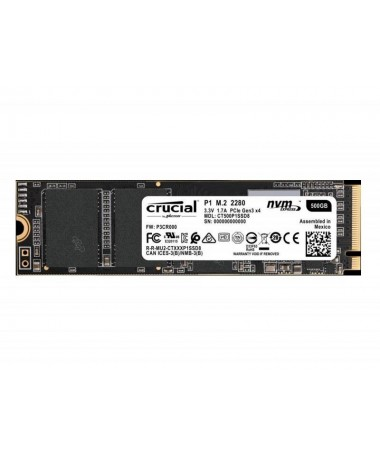 Disk SSD Crucial CT500P1SSD8 (500 GB / M.2/ PCIe NVMe 3.0 x4)