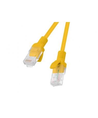 Kabllo patch U/UTP Lanberg PCU5-10CC-0025-O (RJ45 - RJ45 / 0/25m/ U/UTP/ 5e/ e portokalltë)