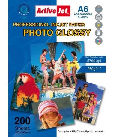Fotoletër Activejet AP6-260GR200 (A6, 260g/m2, 200copë, vizëlluese)