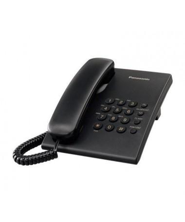 Telefon fiks Panasonic KX-TS500PDB ( e zezë)