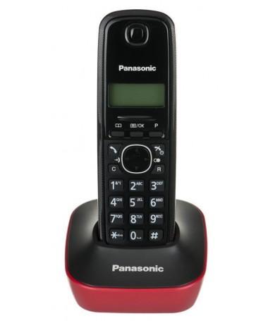 Telefon fiks wireless Panasonic KX-TG1611PDR ( e kuqe)