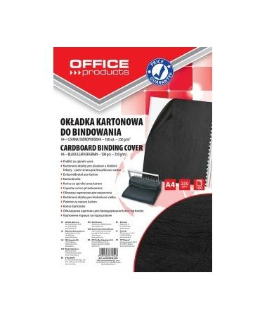 KOPERTINA ME RELIEV A4 ZEZË 250g OFFICE PRODUCTS