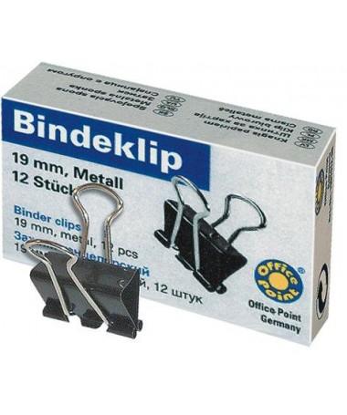BINDER CLIPS 19MM 1/12 OP