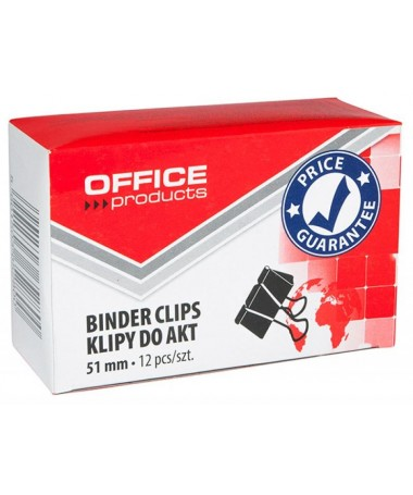 BINDER CLIPS 51MM 1/12 OFFICE PRODUCTS