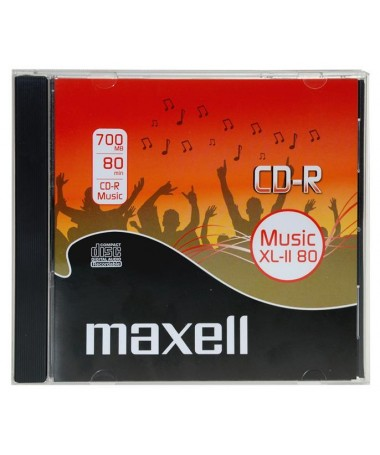 CD-R 80 MU JEWEL MUSIC MAXELL