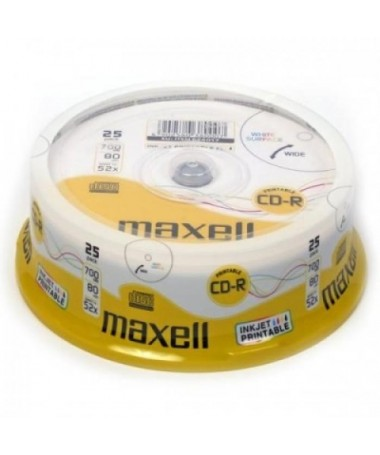 CD-R 80 52X 25S SPINDLE PRINTABLE MAXELL