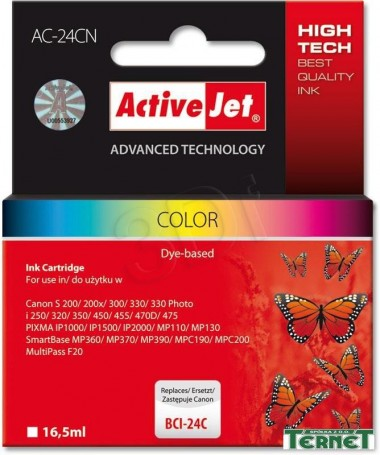 KERTRIXH CANON BCI-24C,16.5ml (AC-24C) ACTIVEJET