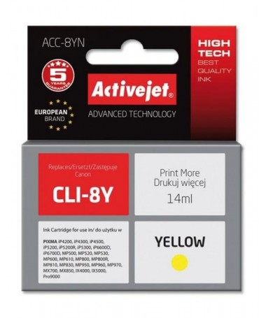 KERTRIXH CANON CLI-8 14ML(ACC-8Y)YELLOW ACTIVEJET