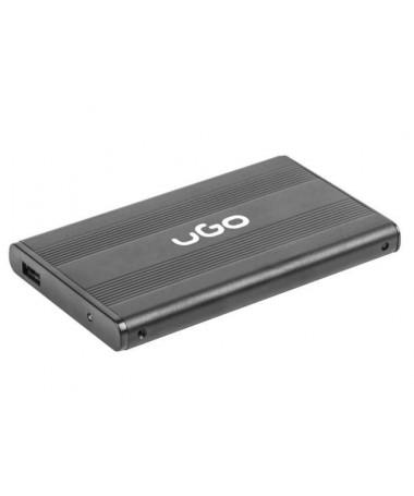 Case për disk UGO UKZ-1003 (2.5 Inch, USB 2.0, Aluminum, e zezë)