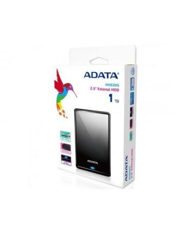 Disk i jashtëm HDD ADATA HV620S AHV620S-1TU31-CBK (1 TB, 2.5 Inch, USB 3.0, No data, e zezë)