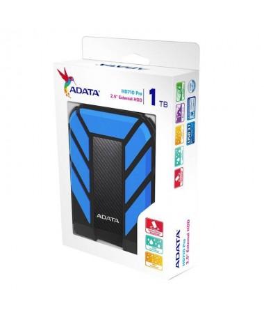 Disk i jashtëm HDD ADATA HD710 AHD710P-1TU31-CBL (1 TB, 2.5 Inch, USB 3.1, 8 MB, 5400 rpm, e kaltër)