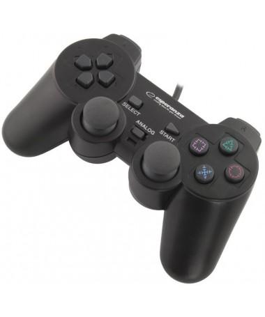 Kontroller Esperanza EG106 ( PC PS2 PS3 / e zezë)