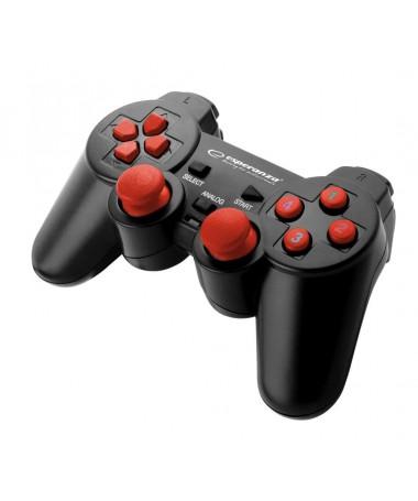 Joystick Esperanza Warrior EGG102R ( e zezë. e kuqe )