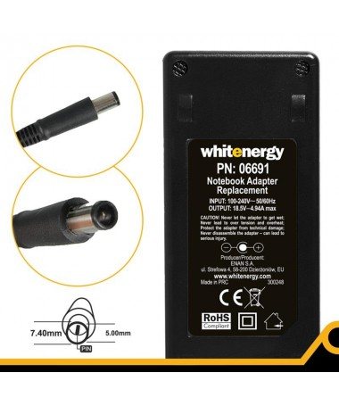 WHITENERGY AC ADAPTER 18.5V/4.9A TIP 7.4x5.0 + PIN