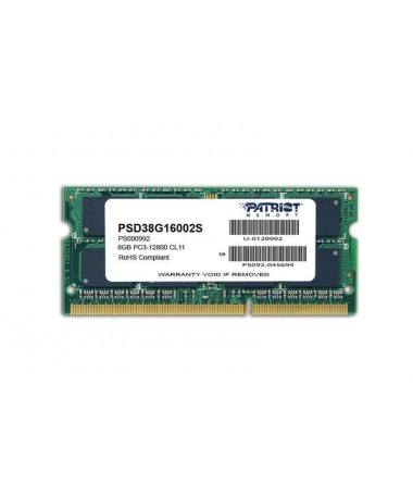 RAM Memorje Patriot Memory Signature PSD38G16002S (DDR3 SO-DIMM/ 1 x 8 GB/ 1600 MHz/ 11)