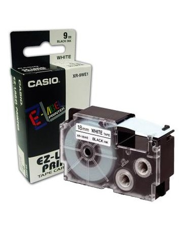 LABEL TAPE CASIO 12MM BARDHË