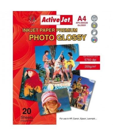 FOTOLETËR A4 200G GLOSSY ACTIVEJET