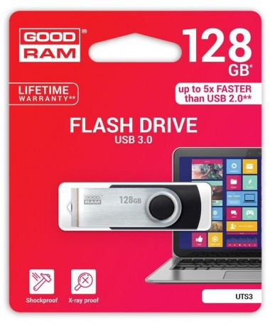 Goodram Flashdrive UTS3 128GB USB 3.0 E zezë