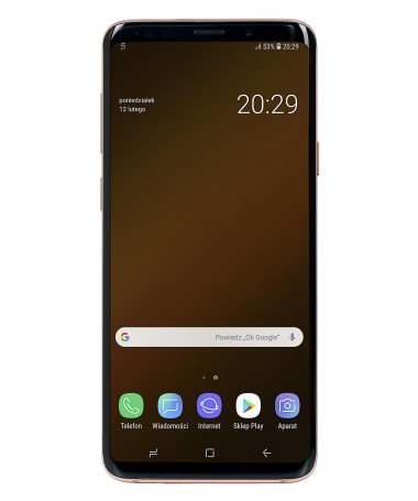 "Smartfon Samsung Galaxy S9+ ( 6/2"" / 2960 x 1440 / 64GB / 6 GB / DualSIM 2 rear cameras Induction charging Face scanner/ gold )"