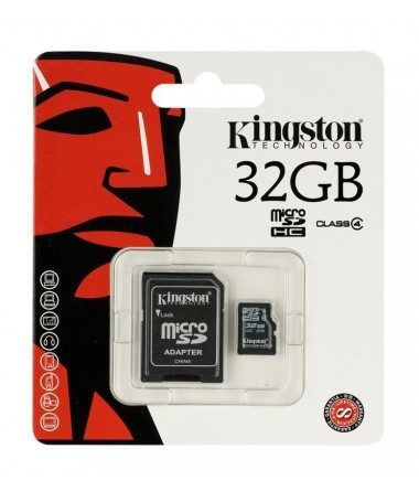 Kartelë memorike SD me adapter Kingston SDC4/32GB (32GB/ Class 4)