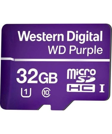 Kartelë memorike SD Western Digital Purple WDD064G1P0A (64GB/ Class 10/ Class U1)