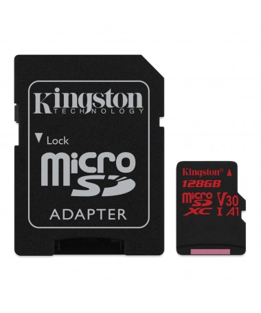 Kartelë memorike SD me adapter Kingston CANVAS SDCR/128GB (128GB/ Class 10/ Adapter)