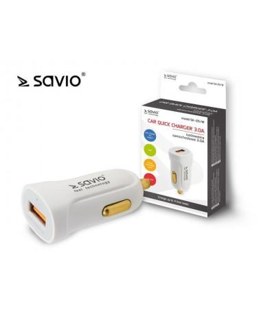 Mbushës automobili SAVIO SA-05/W (3000 mA/ USB)
