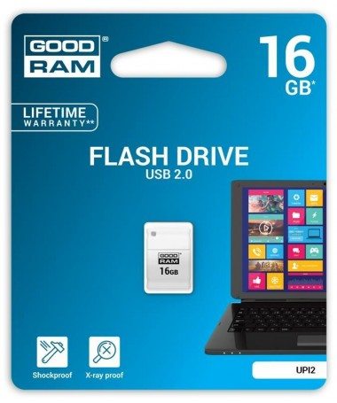 USB Memorje Flash GoodRam Piccolo UPI2-0160W0R11 (16 GB/ USB 2.0/ e bardhë)