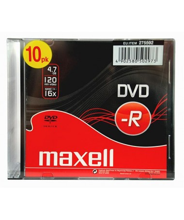 DVD-R 47 16X SLIM CASE MAXELL