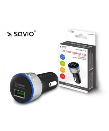 Mbushës automobili SAVIO SA-06/B (3000 mA/ USB)