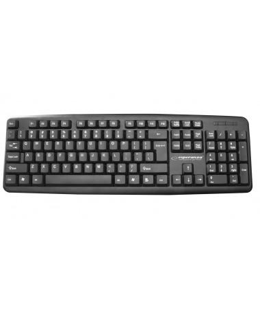 Tastaturë Esperanza AMARILLO EK134 (Membranë / USB 2.0/ (EU)/ e zezë)