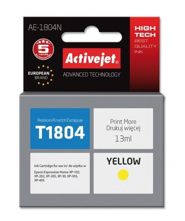 Kertrixh Activejet AE-1804N ( Epson T1804/ Supreme/ 13 ml/ yellow)